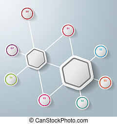 Infographic Two Hexagons Eight Options - Infographic with...