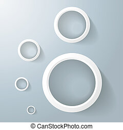 White Rings Golden Ration - White rings with shadows on the...