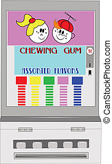 chewing gum vending machine - old vending machine from...