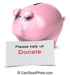Please help us, donate, Donation concept