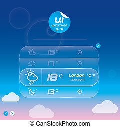 Vector Weather Widget With Sticker