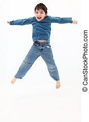 Happy Boy - Happy boy jumping.