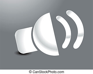 abstract glossy sound icon vector illustration