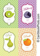 Fruits label design