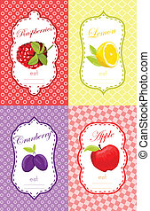Fruits label design