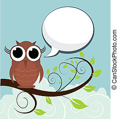 Owl On A Branch