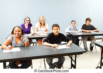 Diverse Classroom with Copyspace