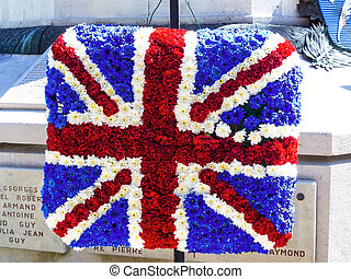english national flag of flowers - the english national flag...