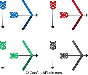 Bow and Arrow Colors  - Different colored arrows and bows