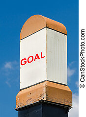 Goal Milestone Concept On A Blue Sky Background