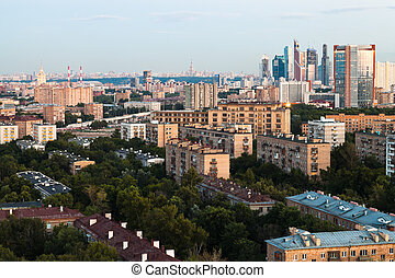 Moscow skyline in early evening - Moscow skyline in summer...