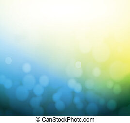 blue and yellow bokeh abstract light background....