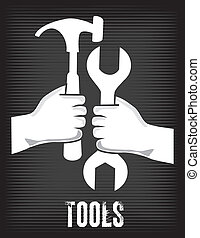 tools design over black background vector illustration