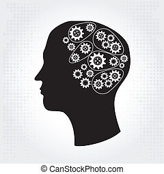 plotting ideas over white background vector illustration
