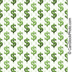 Dollar Sign Pattern - Dollar sign pattern in a grunge style...