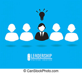 leadership design over blue background vector illustration