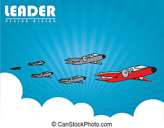 leadership design over sky background vector illustration