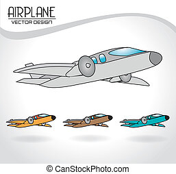 airplane design over gray background vector illustration