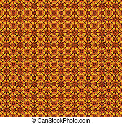 Ornamental Little Flowers Pattern in warm tones.