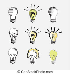 bulbs icons over white background vector illustration