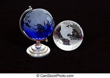 Crystal Globes - Crystal globes with navigational lines