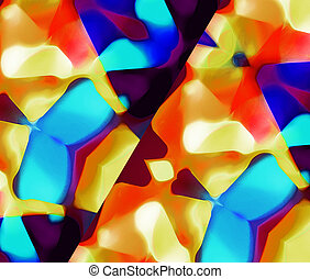 Abstract Multicolored Background Texture - Abstract...