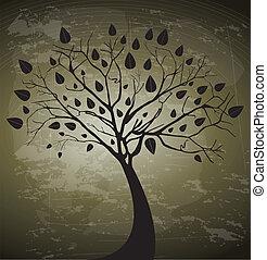 tree design over vintage background vector illustration