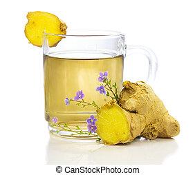 saudável, herbário, chá