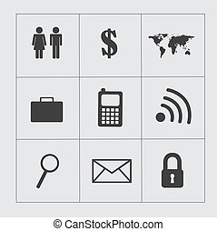 business icons over gray background vector illustartion