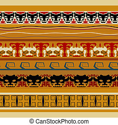 Tribal Indian seamless pattern with animals