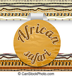 Abstract sticker African safari