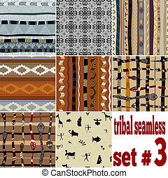 Set of seamless ethnic pattern