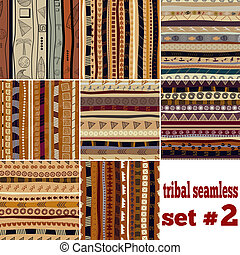 Set of seamless patterns in ethnic style