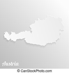 Paper map of Austria