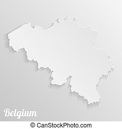 Paper map of Belgium