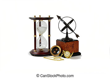 Have the time - Gold pocket watch with a metal chain,...