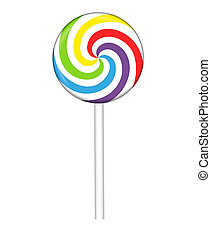 Colorful lollipop, vector illustration