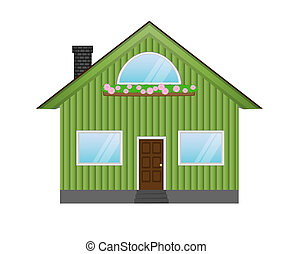 house icon isolated on white