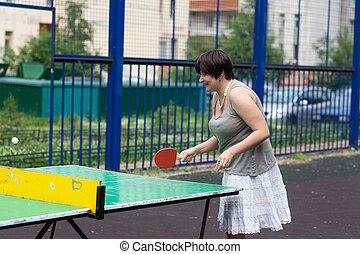 tennis in the yard