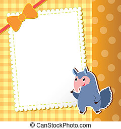 anteater. baby card. vector illustration