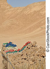 Desert roses sold in the desert, the Sahara in Tunisia