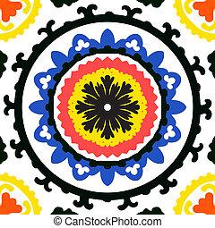 Suzani pattern - Suzani, vector seamless ethnic pattern with...