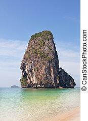 Beautiful rocks in the Andaman Sea, Thailand