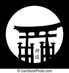 Japanese style - vector illustration of a Japanese style...