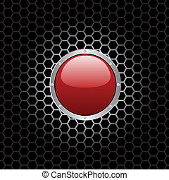 red button - vector illustration of a red button