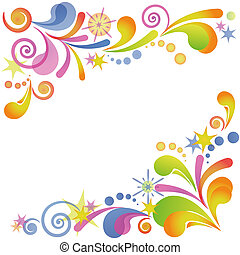 Abstract flourish colorful background