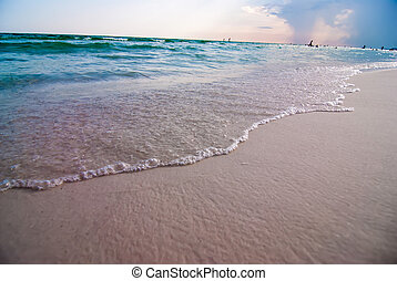 destin florida beach scenes - crystal clear water and beach...