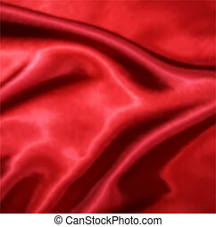 Red Silk Fabric texture Vector illustration