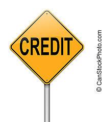 kreditera, begrepp