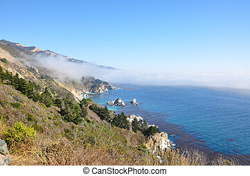 West Coast - The Pacific Coast seen from the famous Route...